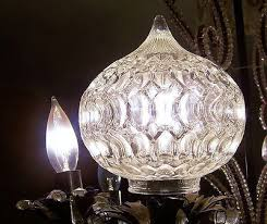 5 teardrop chandelier globes cut glass vintage antique must see 424425661