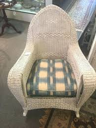 white wicker rocker glider