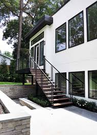 exterior stairs open riser stairs