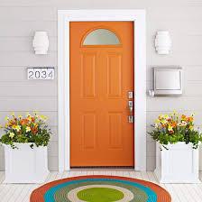 modern front door orange. Fall Decorations Ideas Orange Front Door Pink Interior Regarding 7 Modern E