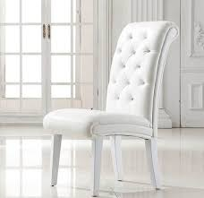 stella studded faux leather dining room chair in white chairs design 1