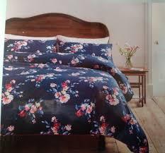 cath kidston navy blue king size paintbox flowers printed duvet set rrp 85