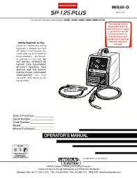 lincoln electric im536 sp 125 plus user manual 51 pages
