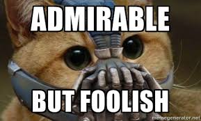 Admirable But foolish - bane cat | Meme Generator via Relatably.com