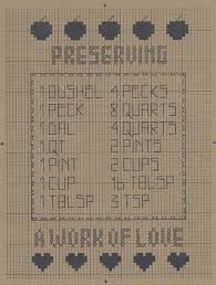 Preserving Sampler Counted Cross Stitch Pattern