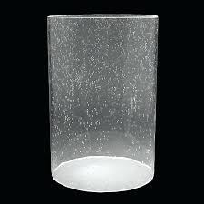 glass cylinder clear seeded glass cylinder replacement glass cylinder for chandelier