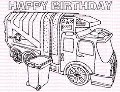 Small Picture Pic Photo Garbage Truck Coloring Page at Coloring Book Online