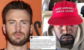 Chris Evans slams Kanye West's call for 13th Amendment to be abolished