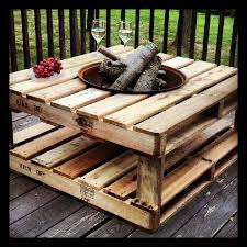 OUTDOOR'S COFFEE TABLE WITH BUILT IN FIRE-PIT