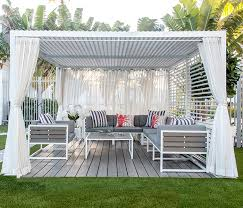 Modern Large Outdoor Cabana in White