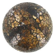 Decorative Balls Hobby Lobby Brown Glass Mosaic Decorative Ball Shop Hobby Lobby For the 4