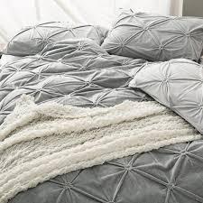 modern grey solid color bedding set queen king size flannel duvet cover set winter warm duvet cover fleece solid color bed sheet modern duvet pretty duvet
