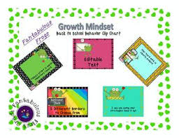 Fantabulous Frogs Back To School Growth Mindset Behavior Clip Chart