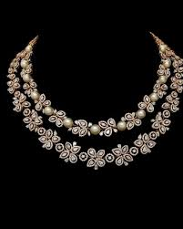 gorgeous diamond pearl necklace from