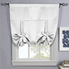 Curtain rods for small windows Hang Grayish White Ava Blackout Weave Curtains Rod Pocket Tie Up Image Wayfair Ava Blackout Weave Curtains Rod Pocket Tie Up Shade For Small Window