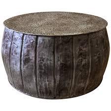 viyet designer furniture tables designe gallerie small embossed round drum table