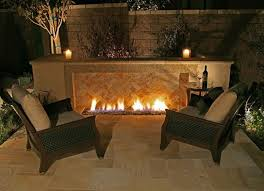 you can even put your gas fireplace outdoor