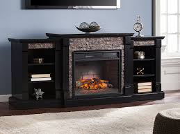 gallatin infrared electric fireplace entertainment center in black fi8525
