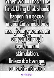 Men giving women orgasm