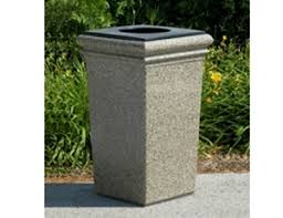 outdoor trash can. Picture For Category Fiberglass Outdoor Trash Can