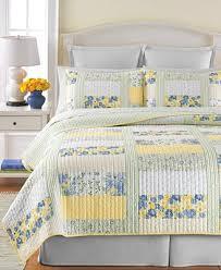 Martha Stewart Collection 100% Cotton Blue & Yellow Patchwork ... & Martha Stewart Collection 100% Cotton Blue & Yellow Patchwork Posey  Full/Queen Quilt Adamdwight.com
