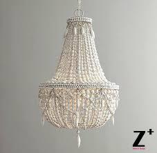 wood bead light replica item style large chandelier weathered vintage retro white wood bead lights large