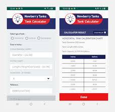 Newberry Tanks Tank Chart Newberry Tank Calculator App Innovation Technologies
