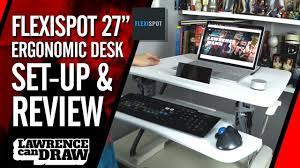 ergonomic desk setup. @FlexiSpot Ergonomic Standing Desk Set-up \u0026 Review Setup