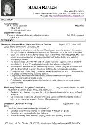 sample music teacher resume template private education teaching examples