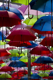 Near Londons Borough Market you can find this colorful roof of umbrellas.
