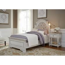 white upholstered beds. Liberty Magnolia Home Antique White Upholstered Bed (Queen), Beige Off-White Beds