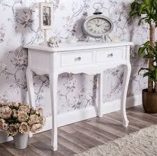 white shabby chic bedroom furniture. Eton White Range - 2 Drawer Dressing Console Table Shabby Chic Bedroom Furniture R
