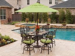 cool gathering height outdoor dining sets toscano dining cast aluminum patio furniture outdoor patio