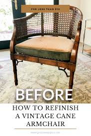 how to refinish a cane armchair grace