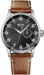 men s brown hugo boss date display watch 1512723