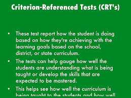 criterion referenced assessment chapter 2 methods of assessment and testing considerat
