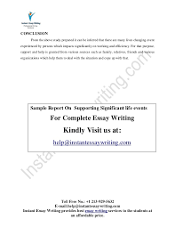 supporting significant life events sample by instant essay writing 12