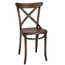 Cross Back Dining Chair- Antique Cherry