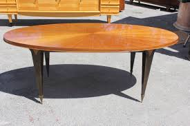 oval dining table art deco: french art deco flame mahogany quotsunrayquot oval dining table