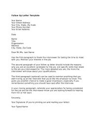 Follow Up Letter Sample Fiveoutsiders Com