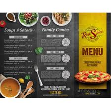 To Go Menu Templates Tri Fold Menu Under Fontanacountryinn Com
