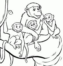 Small Picture Free Printable Monkey Coloring Pages Coloring Print Free Printable