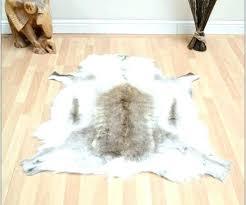 faux fur animal rug rugs medium size of garage skin ikea