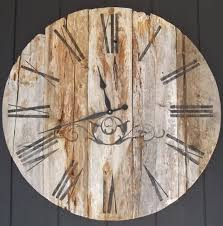 36 inch clock reclaimed wood rustic primitive barn wood home
