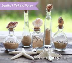 Decorative Colored Glass Bottles Easyto Make Decorative Seashell Bottles 54