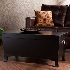 ... Coffee Table, Attractive Rectangle Classic Wood Black Trunk Coffee Table  Design To Setup Living Room ...