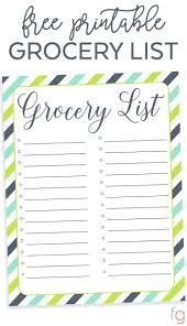 Free Printable Blank Grocery List 011 Grocery List Template Free Ideas Printable Ulyssesroom
