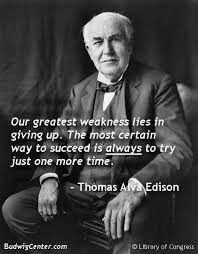 Thomas Edison Quotes Extraordinary Thomas Alva Edison On Giving Up Education Quotes And Posters