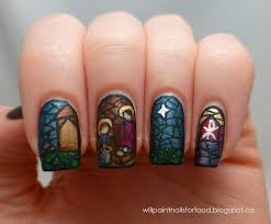 Nativity Nail Designs Modern Art Catholic Nativity Nail Art This Is So Cool