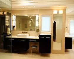 bathroom makeup lighting. inspiration for a large contemporary master beige tile and ceramic porcelain floor bathroom remodel in makeup lighting